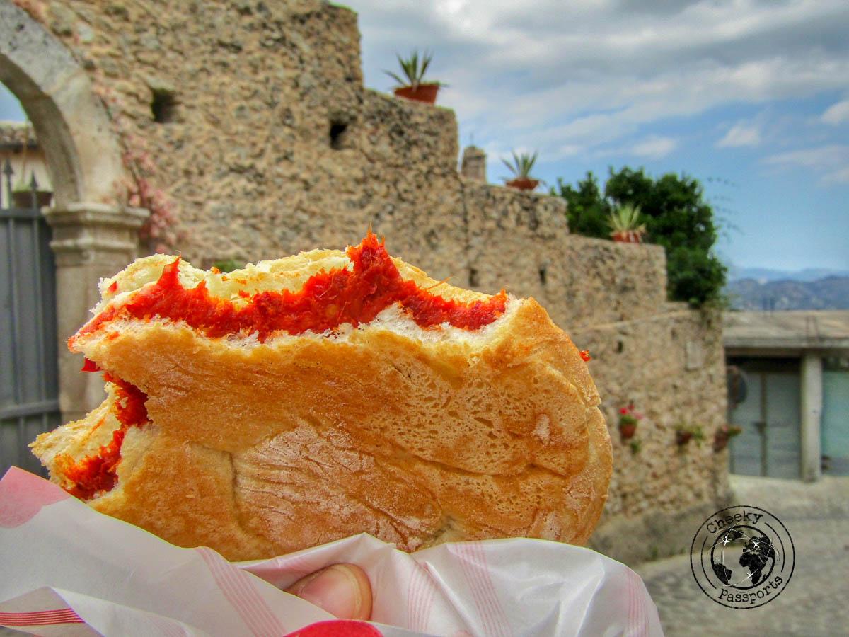 Sandwich with Nduja