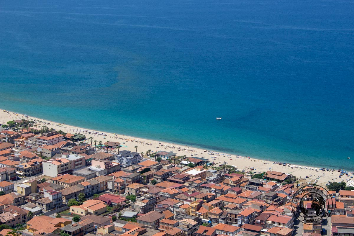 The long beach at Nicotera, one of the best tropea beaches