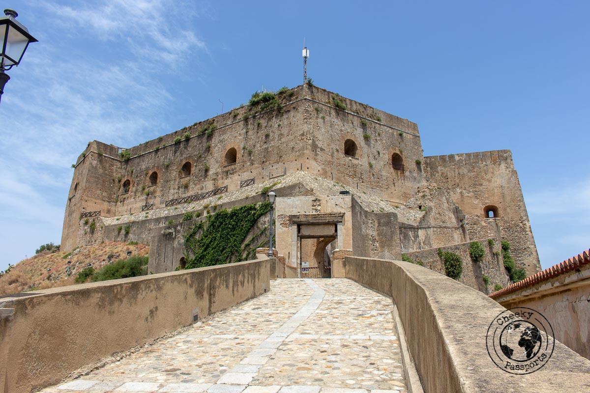 The road leading to Castello dei Ruffo of Scilla