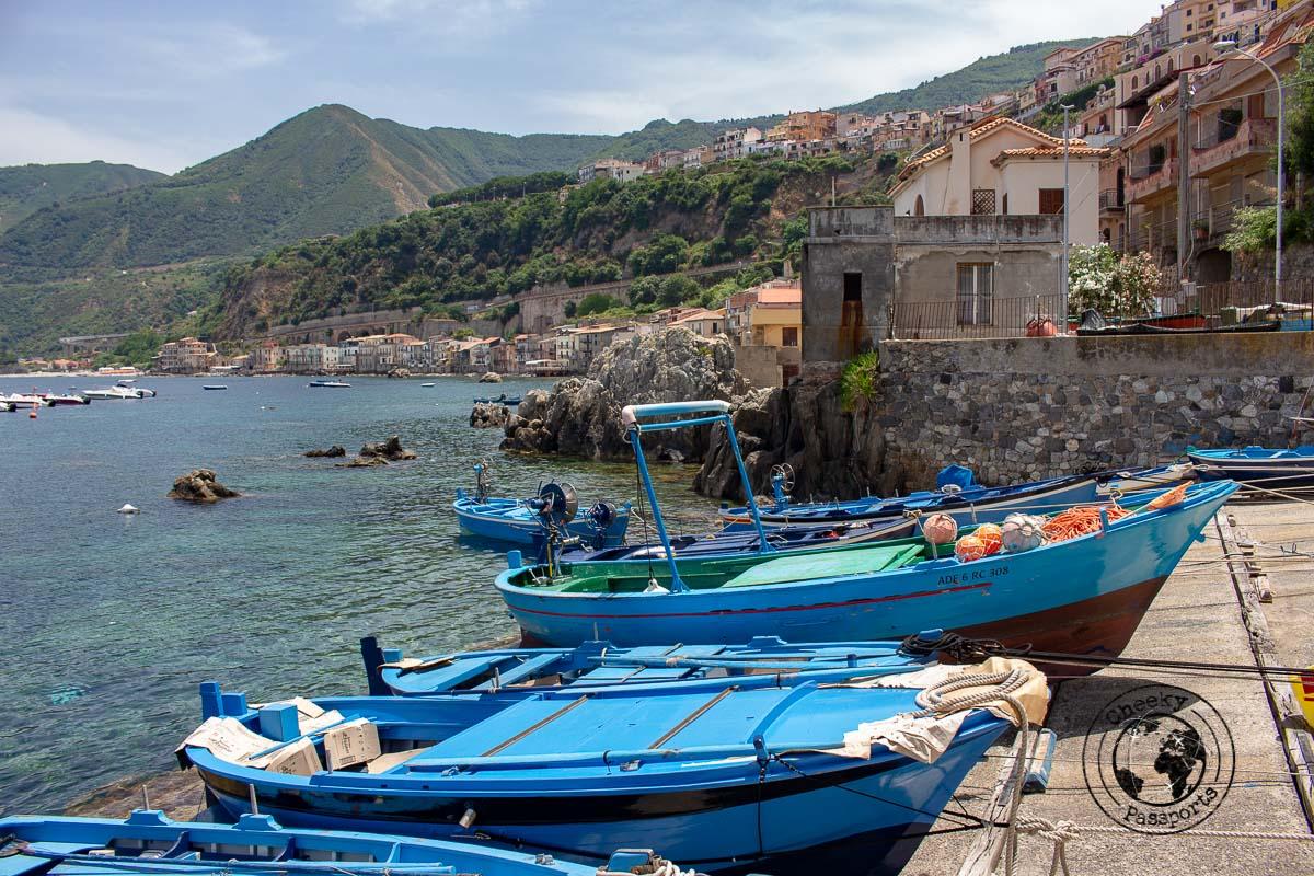 The seaside hamlet of Scilla in Calabria