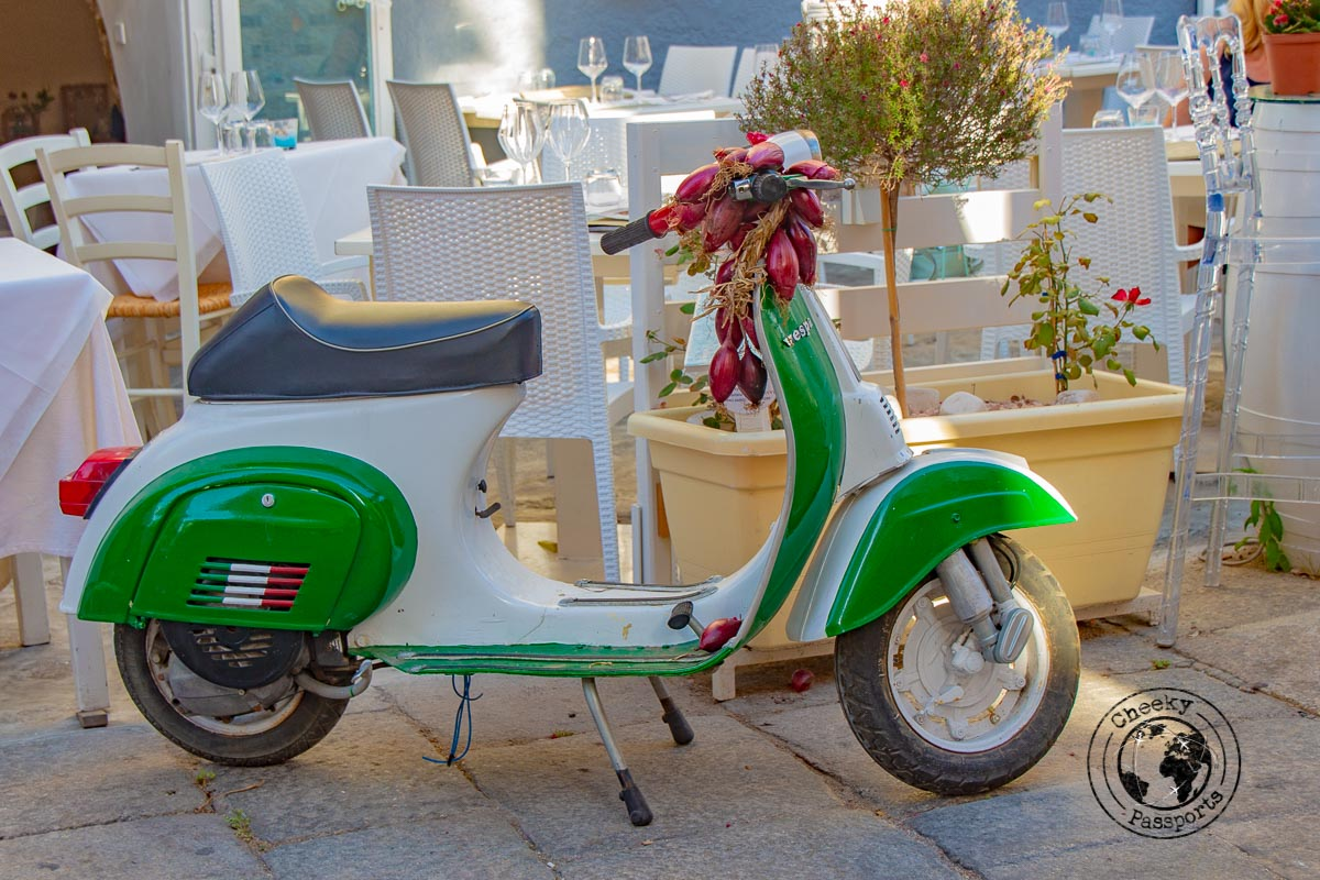 The traditional motorino is a common sighting in calabria