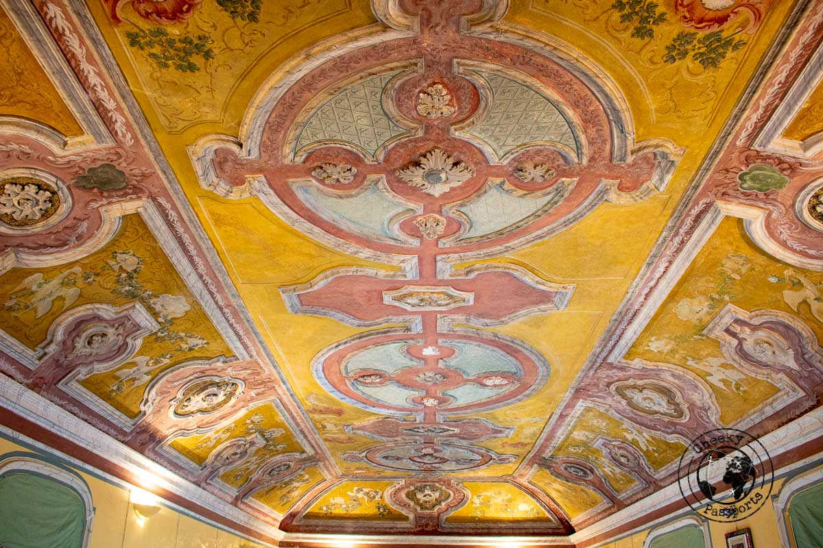 The decorated roof of the Carafa Castle, the best places to visit in crotone