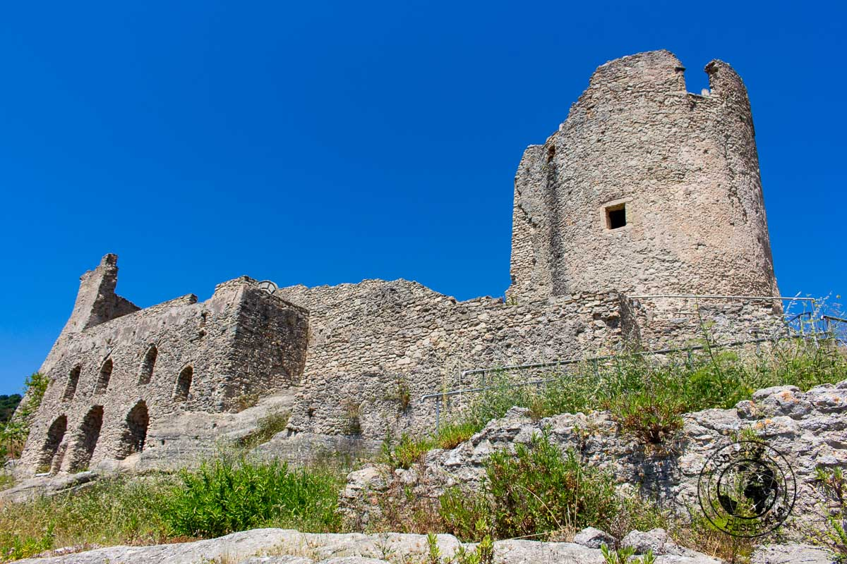 Ruins of the castle of Cleto in Calabria