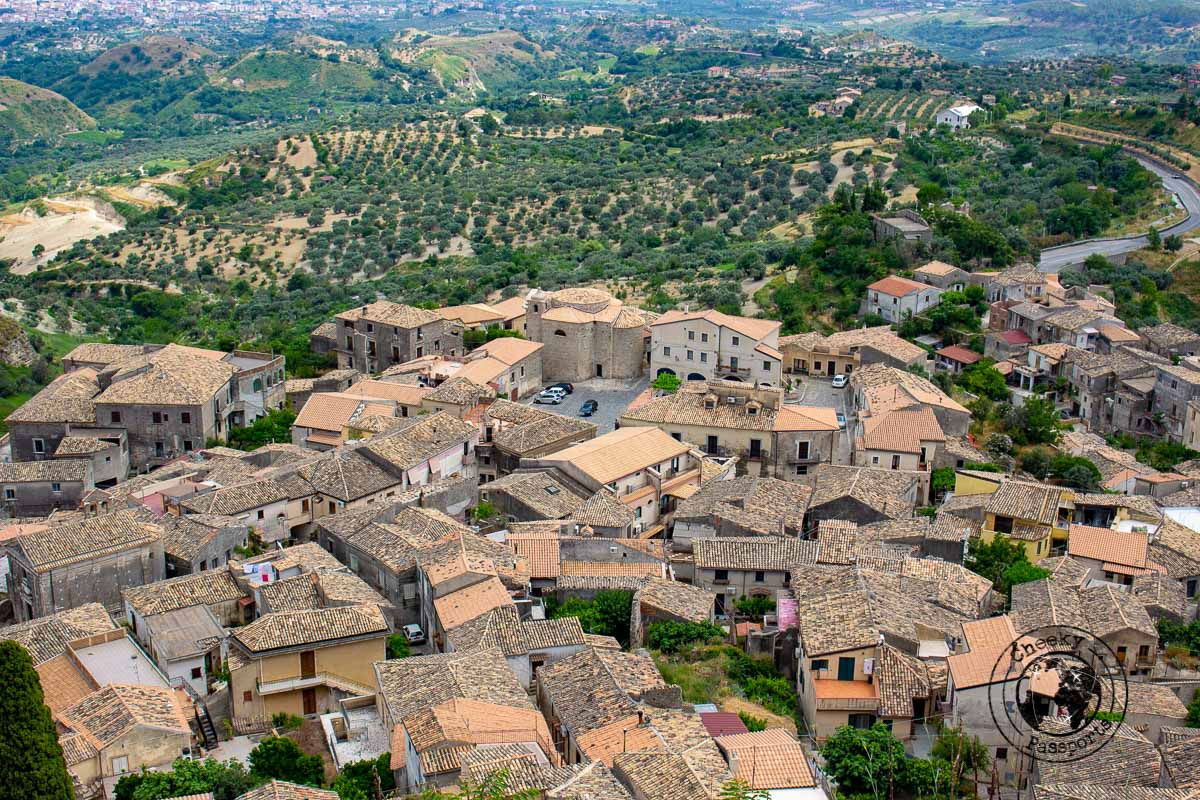 The view from the town of Gerace - Calabria Itinerary