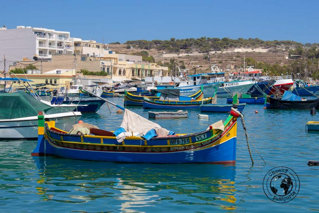 A Luzzu at Marsaxlokk one of your stops on your Malta itinerary