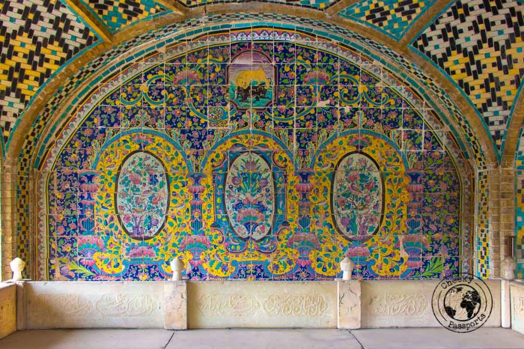 A detailed arch at the Golestan Palace makes it a top attraction in Tehran