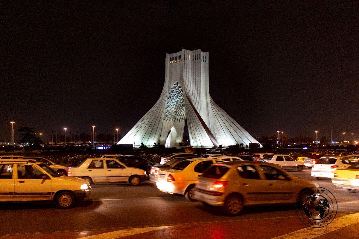 Azadi Tower - independent travel in Iran