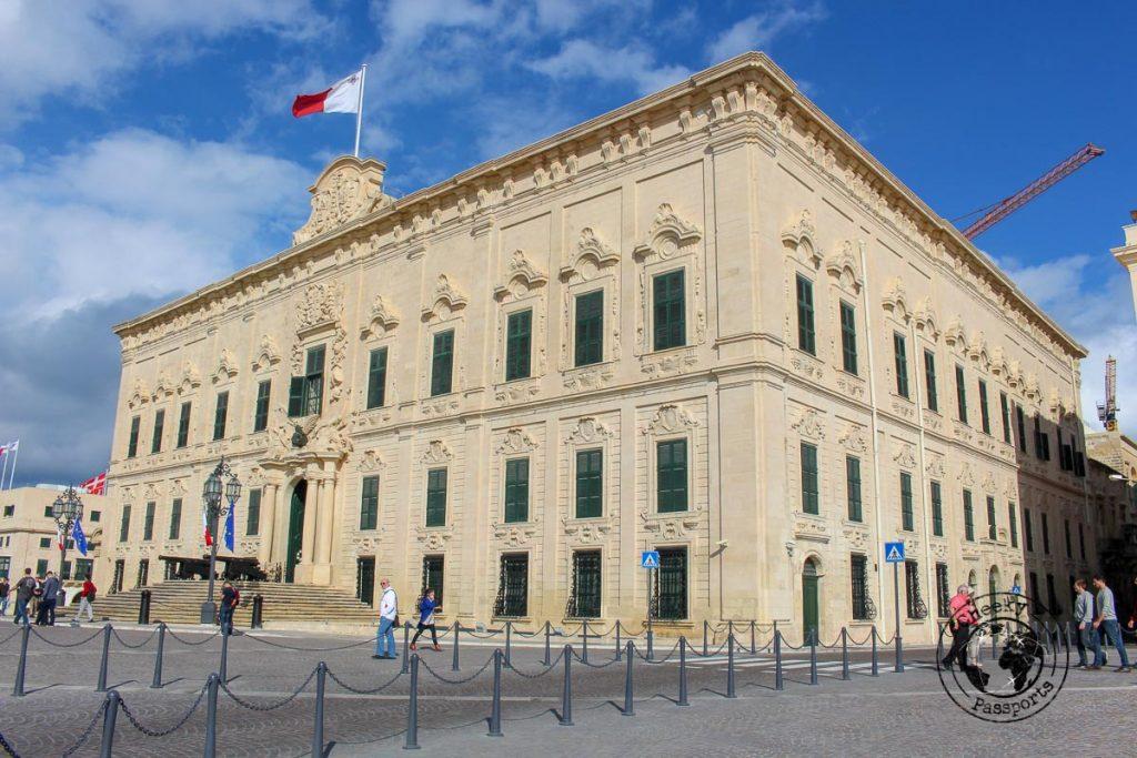 Castille Square in Valletta - Malta Itinerary