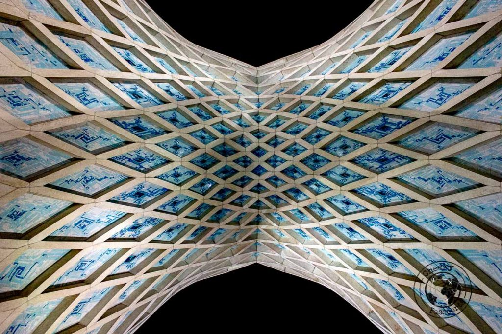Detail of the Azadi Tower in Tehran, Iran - What to do in Tehran