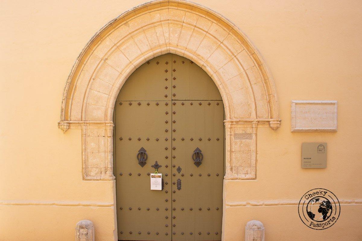 Entrance to Palazzo Falzon in Mdina