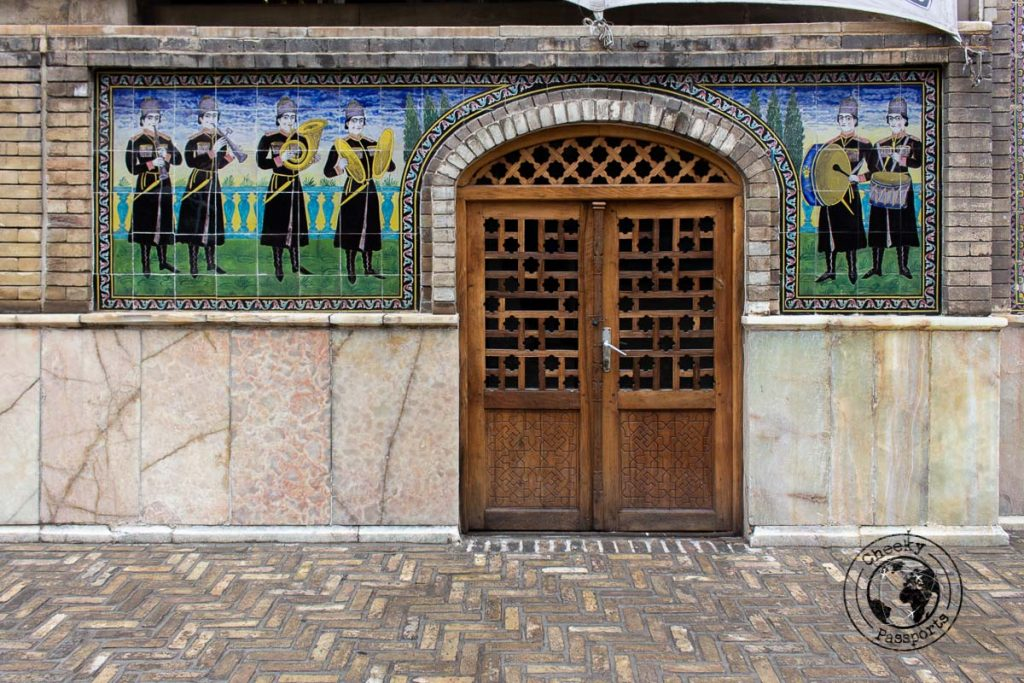 Fancy doorway decorating one of the chambers at the Golestan Palace in Tehran