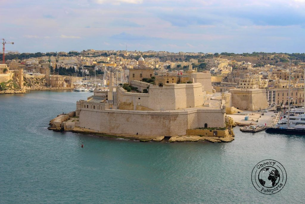 Fort St. Angelo at the Grand Harbour - Malta itinerary
