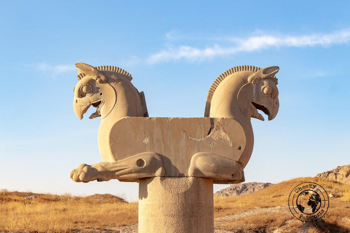 Horse statue at Persepolis - Iran travel tips