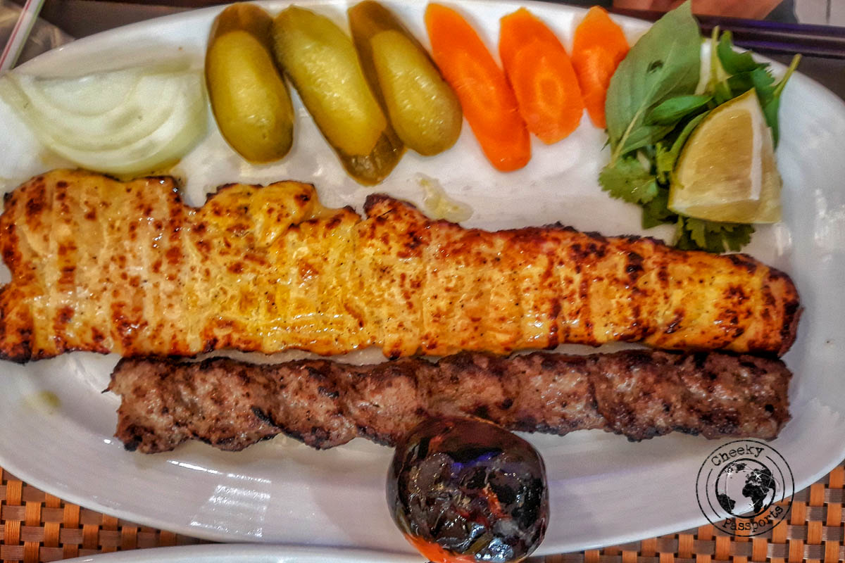 Kebabs, a favourite food in Iran