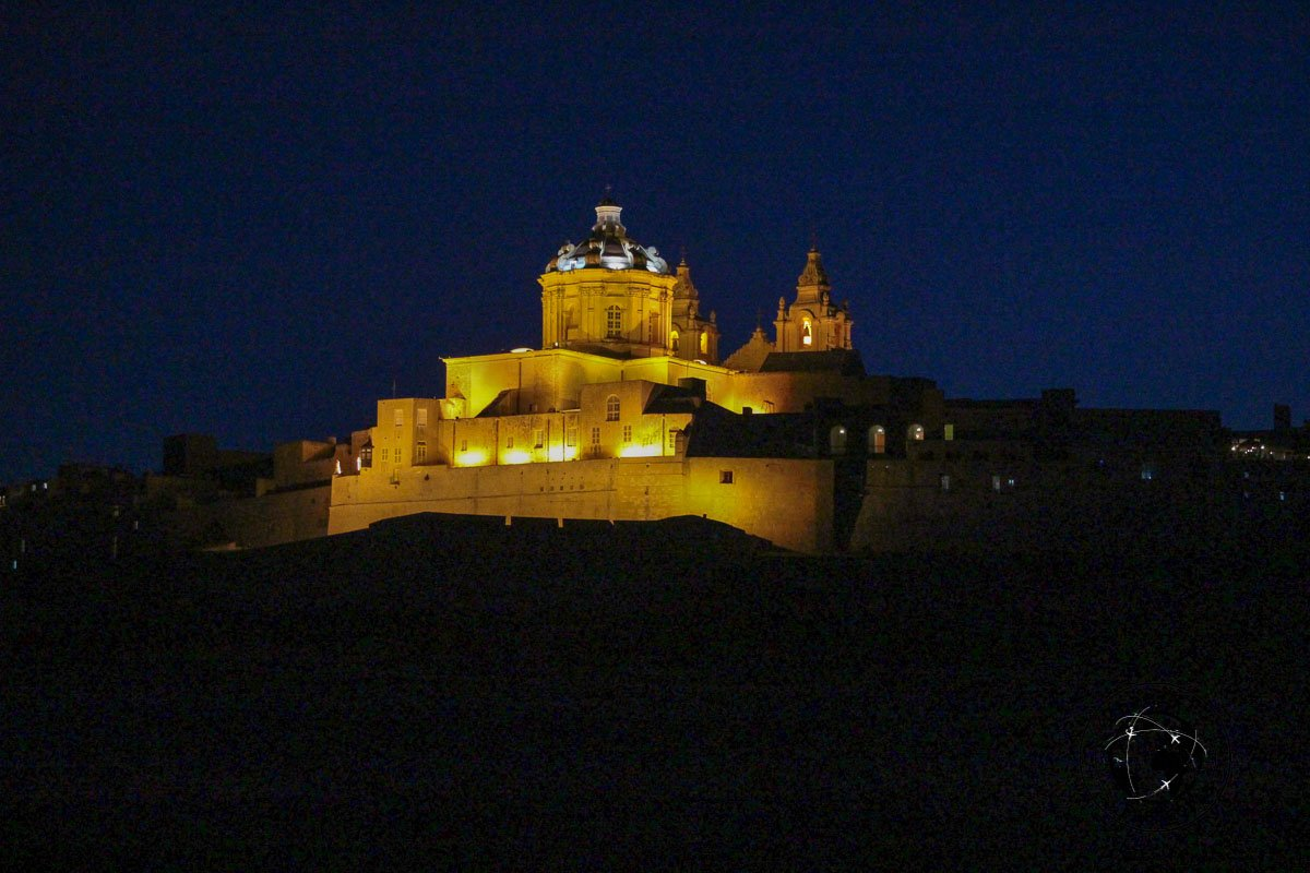 Mdina by Night - top places to visit in Malta