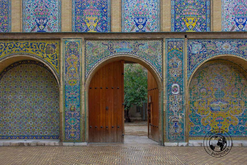One of the doors at the Golestan Palace, a top attraction on the list of what to do in Tehran