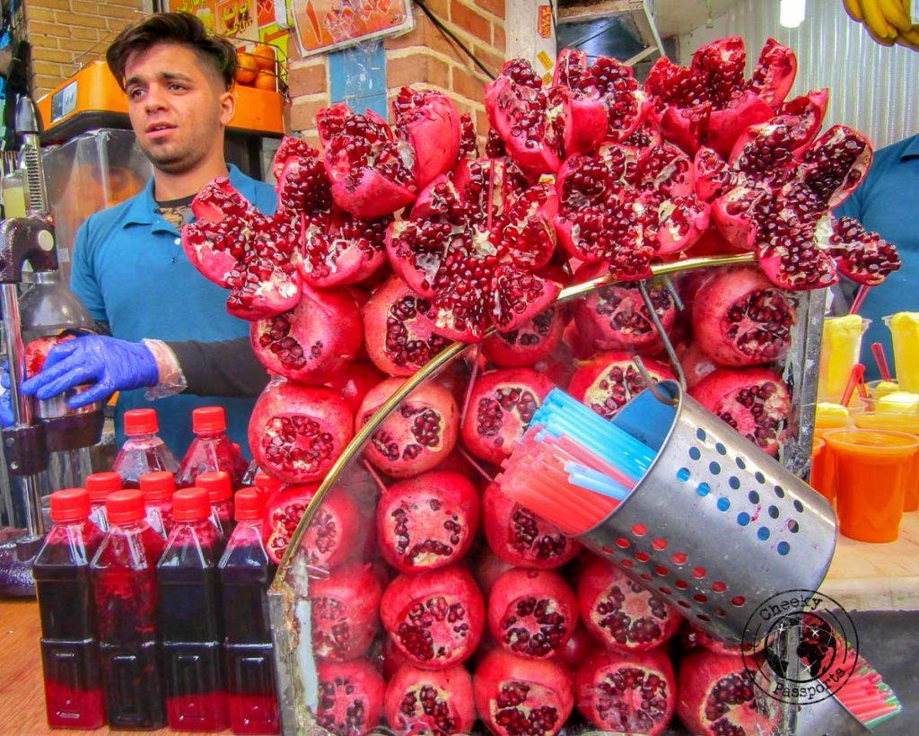 Pomegranate juice vendor in Tehran
