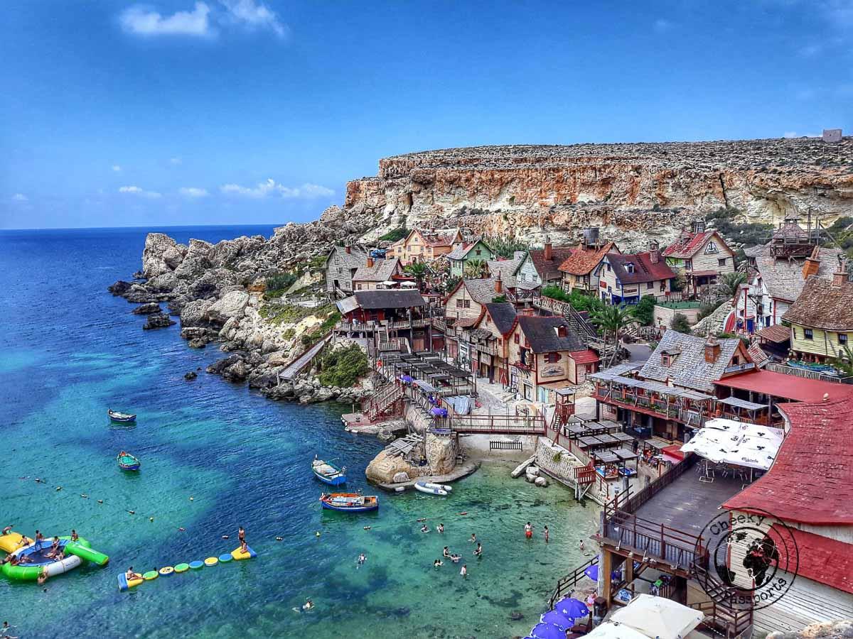 Popeye's Village viepoint - Malta Itinerary