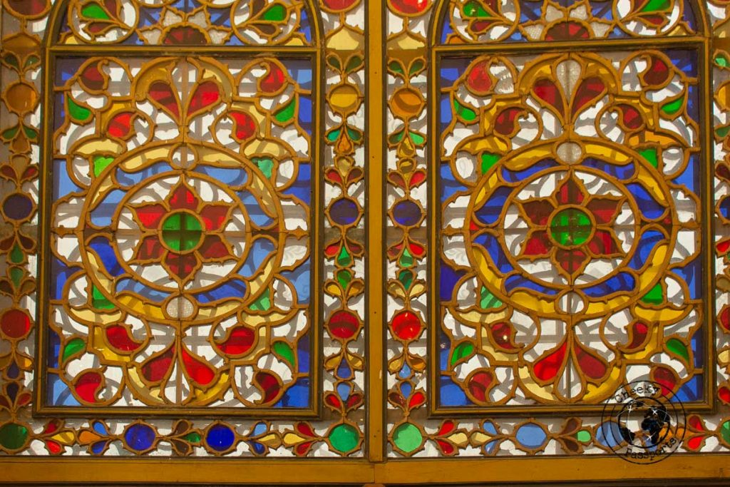 Stained glass detail at the Golestan Palace in Tehran