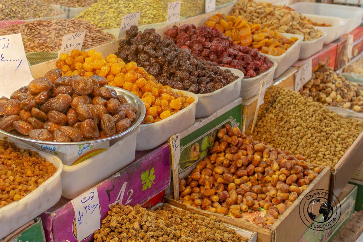Spices and foods at the open markets of Iran