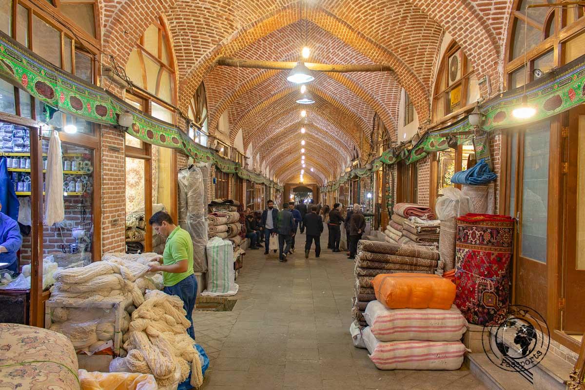 Tabriz open market - independent travel in Iran