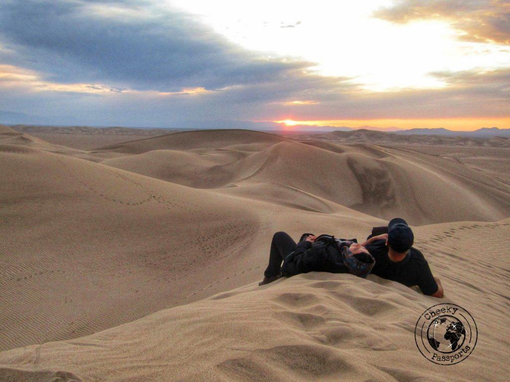 The desert of Varzaneh in Iran