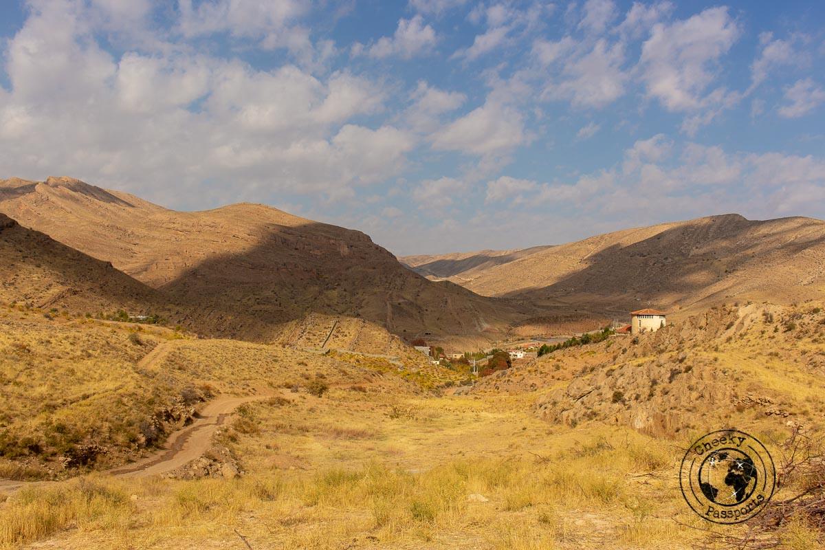 The landscape at Galat, near Shiraz