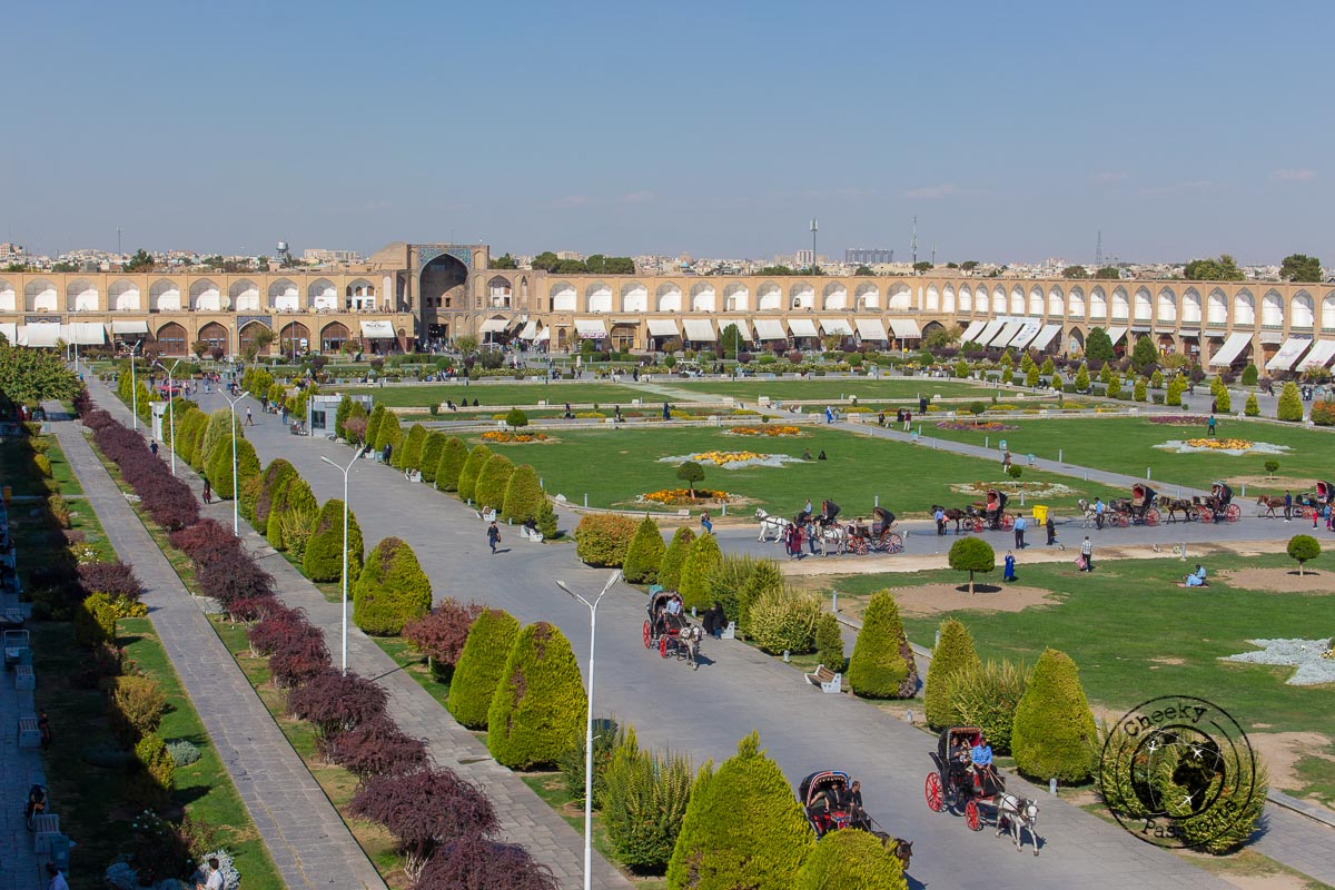The main square in Isfahan - Independent travel in Iran
