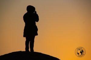 Sunrise over the Varzaneh Desert
