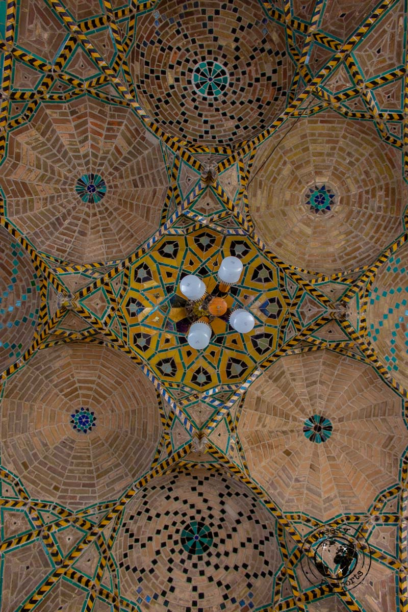 Detailed  persian architecture in Qazvin