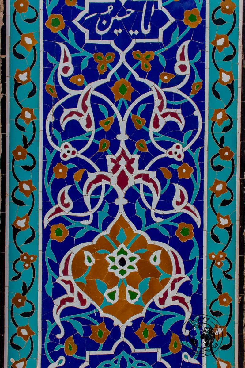 Persian tiles in Qazvin