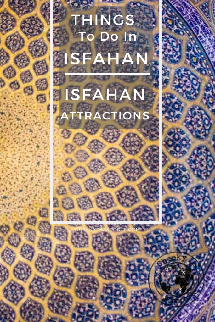 The many #things to do in Isfahan make it is one of the finest #cities in the Middle East. Here's all about #planning your #trip to #Isfahan. #irantravel #iranissafe #toptouristattractions #tourism #travel #travelstoke #offthebeat #iran #attractions #worldheritage