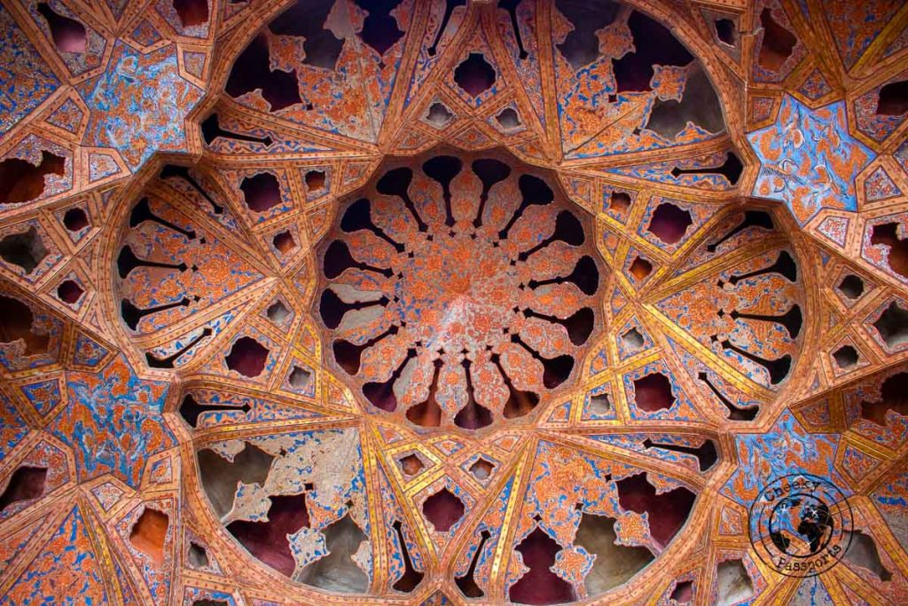 Aali Qapu Palace wall decorations in Isfahan