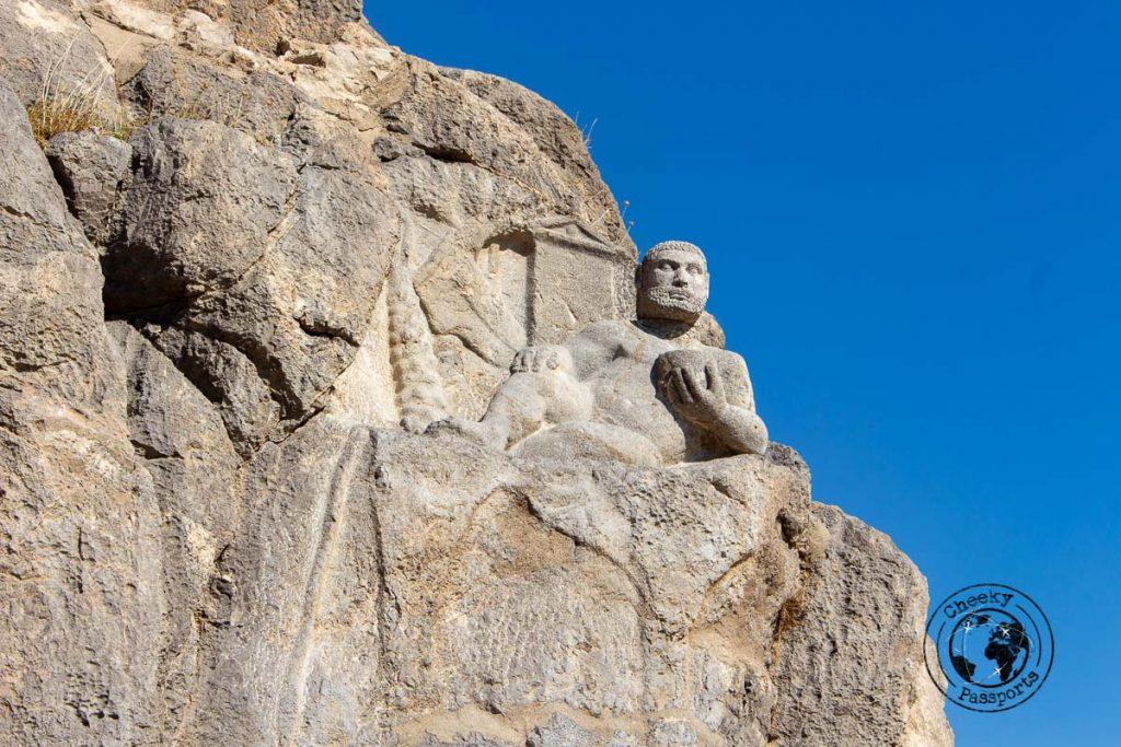 Carvings at Mount Bisotun