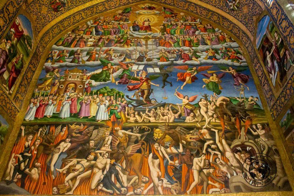 Fresco inside the Vank Catherdral