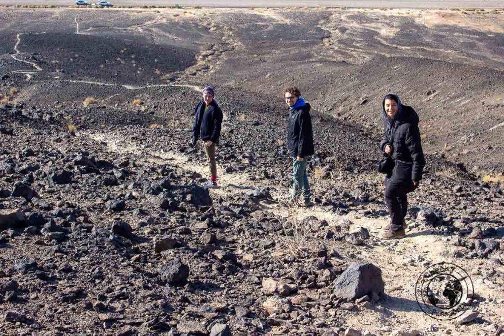 Hiking up a small volcano in Varsaneh