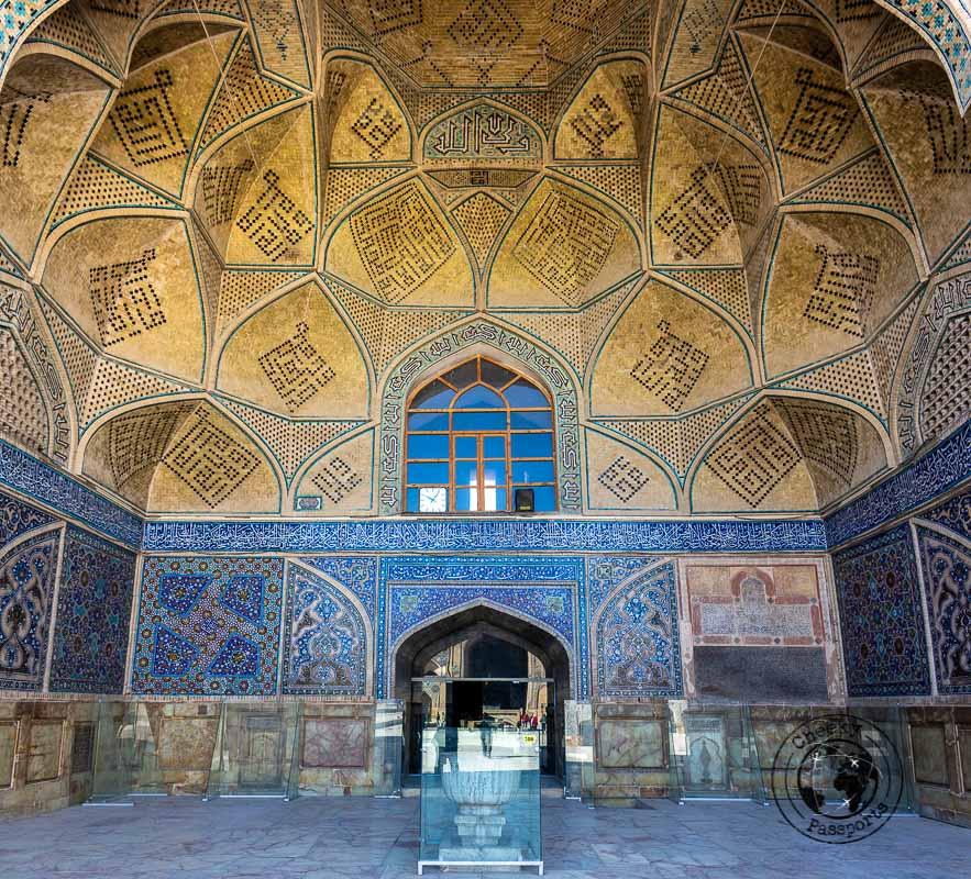 Inside Masjed-e Jameh in Isfahan