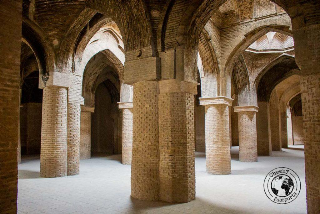 Inside the Masjed-e Jameh Mosque