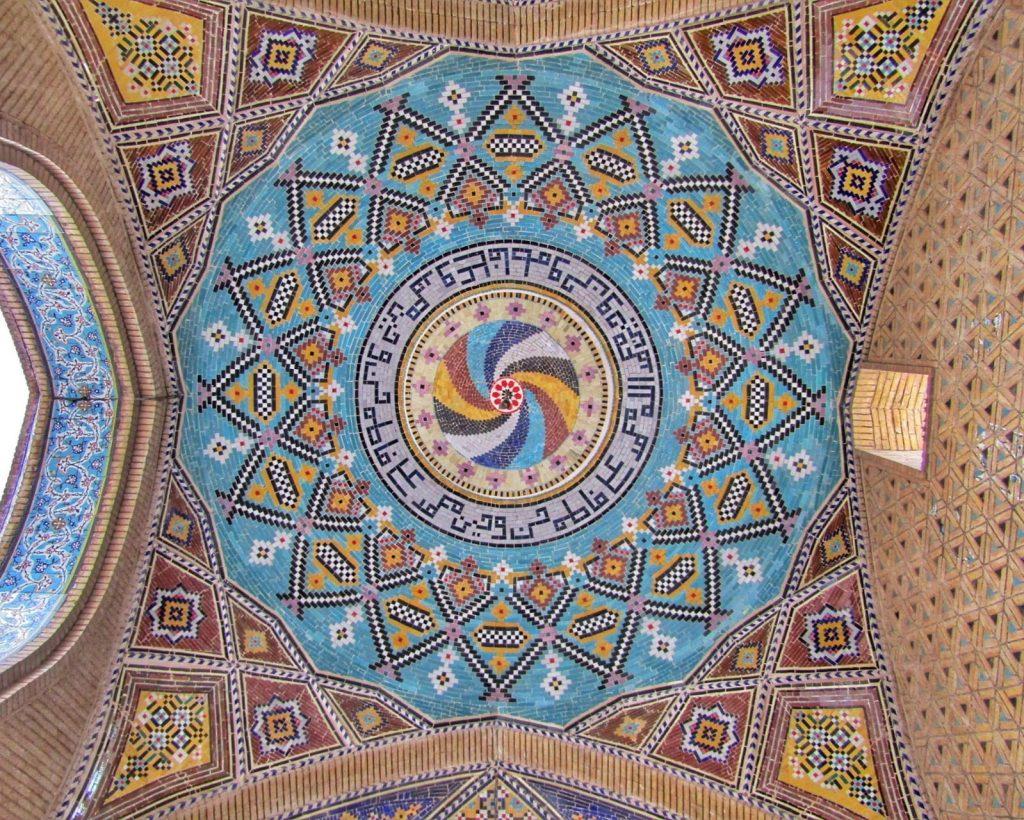 Iranian style decoration at Kermanshah
