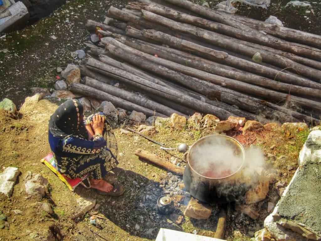 Makeshift BBQ in Palangan