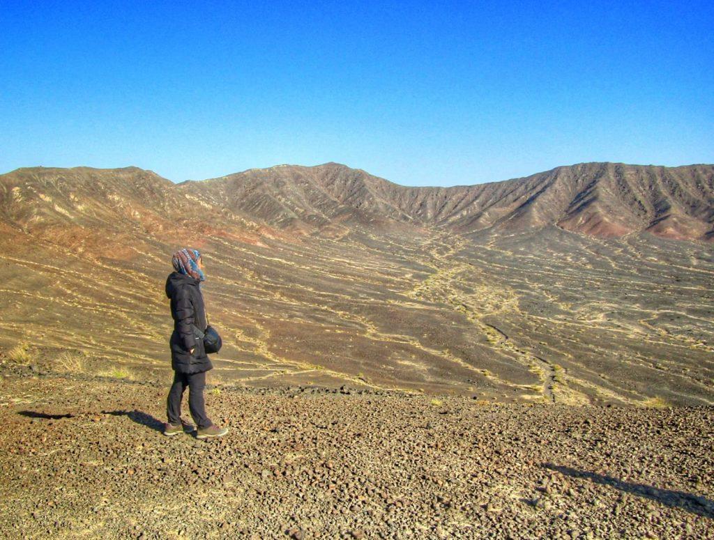Michelle at the Varzaneh Volcano
