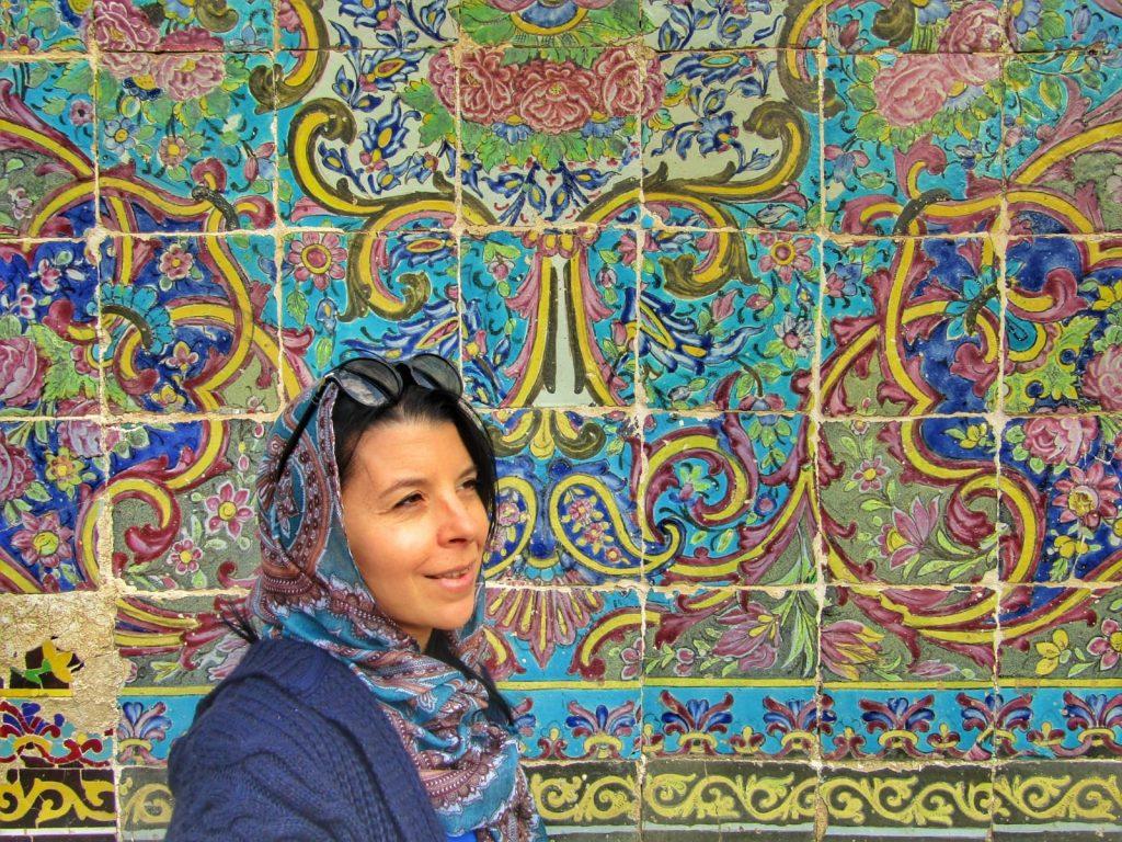 Michelle loving the tiles