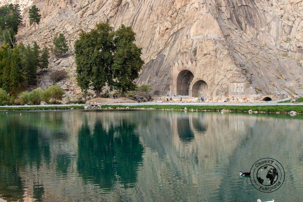 Taq-e Bostan releif and lake view near kermanshah
