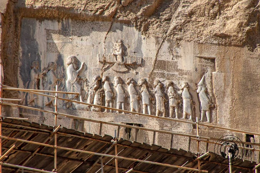 The Bas-reliefs at Bisotun are one of the most beautiful places to visit in Iran