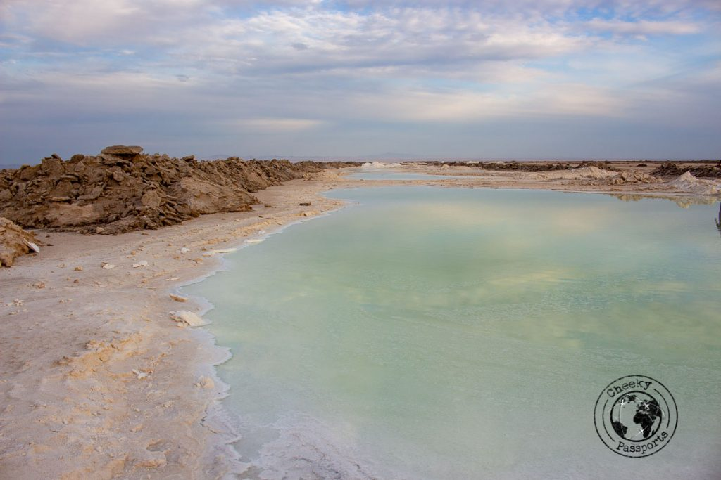 The salt lake at the Varzaneh Desert