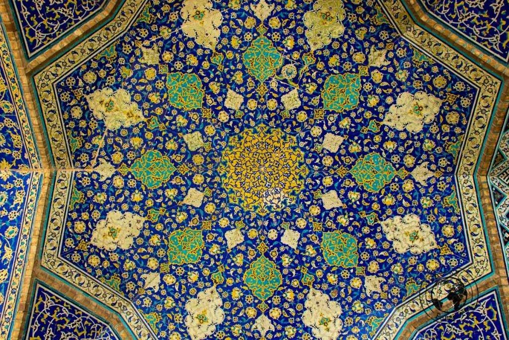 inside the Imam Mosque (Masjed-e Shah)