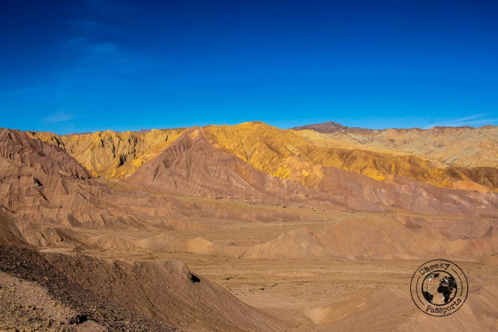 Coloured Mountains of the Kaluts, near Kerman