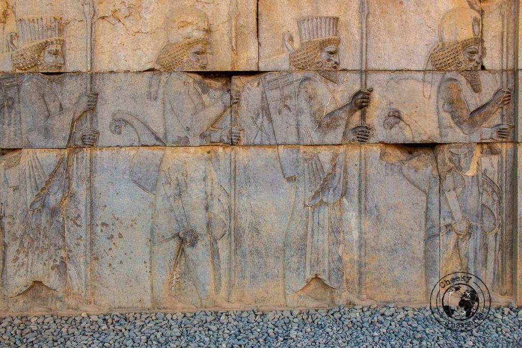 Bas relief at Persepolis near Shiraz