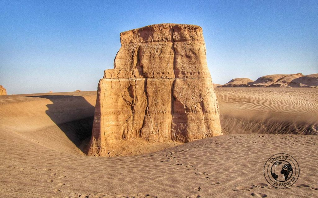 Canyon of the Shahdad Desert in the kalouts