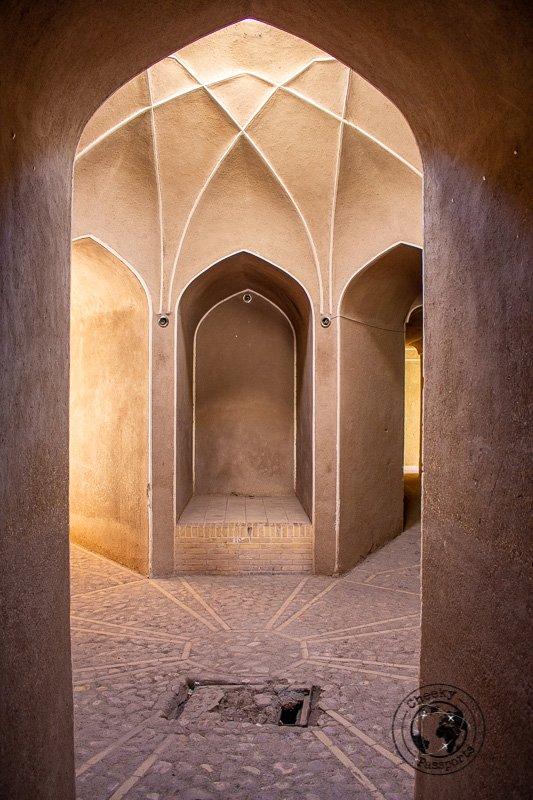 Detail at the Rayen castle in Kerman